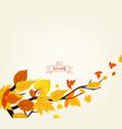 an autumn design vector image