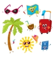 Attributes of summer vacation travel to tropics vector image