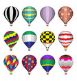 hot air balloons flat icons vector image