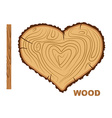 I love wood Cutting tree as a symbol of heart vector image