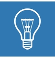 Light Bulb Icon on Blue Background vector image