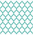 moroccan tiles design seamless turqoise pattern vector image
