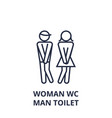 woman wc man toilet line icon outline sign vector image