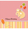 Its a baby girl announcement card vector image vector image