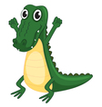 a crocodile vector image