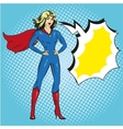 superwoman in retro pop art vector image