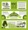 banners for save earth and nature ecology vector image