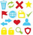 Internet icons trash bin vector image