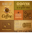 Collection of vintage Coffee Design Elements vector image