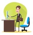 Businessman Contract Online vector image
