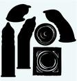 Set condoms vector image