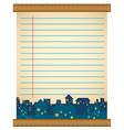 Paper design with houses at night vector image vector image
