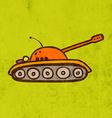 Army Tank Cartoon vector image