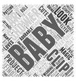 baby shower clip art Word Cloud Concept vector image