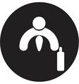 Business icon Handshake vector image