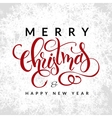 christmas greetings card with lettering - vector image