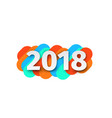 creative happy new year 2018 card design vector image