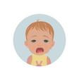 cute crying baby emoticon tearful child emoji vector image
