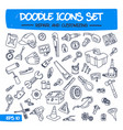 doodle icons set - repair and customizing vector image