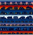 house silhouettes background vector image