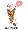 icecream cherry vector image