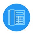 Linear office phone circle icon vector image