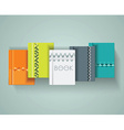 Set of books cover design vector image