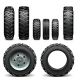Tractor Tires vector image