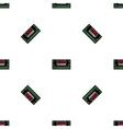 Bomb flat icon pattern vector image