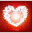 Beautiful background with red heart made from vector image