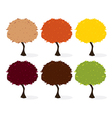 Trees isolated vector image vector image