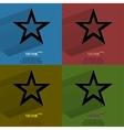 Color set star web icon flat design vector image
