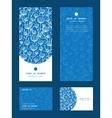blue white lineart plants vertical frame pattern vector image vector image