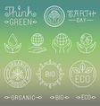 linear ecology and organic badges and logos vector image