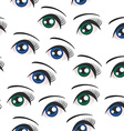 Eyes on white background seamless pattern vector image