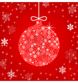 christmas ball made of flowers vector image vector image