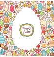 Easter egg mosaic vector image