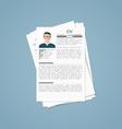 Job interview vector image