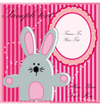 Baby postcard with rabbit vector image
