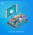 banner on theme online training vector image