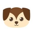 cartoon cute puppy dog big ears vector image
