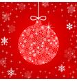 christmas ball made of flowers vector image
