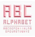 Set of letters alphabet pink vector image