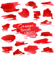 set of various watercolor brush strokes vector image