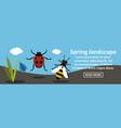 spring landscape banner horizontal concept vector image