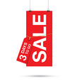 three days to go sale sign vector image