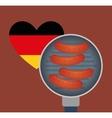 Sausage german food vector image