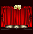 theatre stage with masks vector image