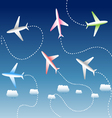 Group of airplanes vector image