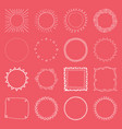 handdrawn frame collection vector image